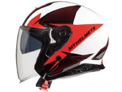 Casco MT Thunder 3 Jet Sv Wing A1 Brillo Rojo Perla