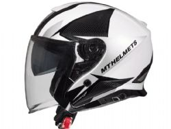 Casco MT Thunder 3 Jet Sv Wing A8 Brillo Gris Perla