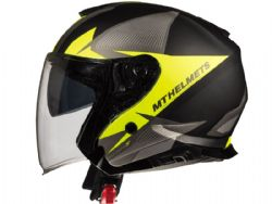 Casco MT Thunder 3 Jet Sv Wing C4 Mate Amarillo Fluor