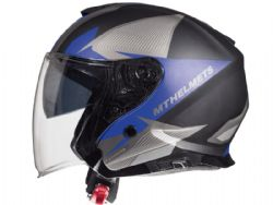 Casco MT Thunder 3 Jet Sv Wing C6 Azul Mate