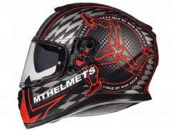 Casco MT Thunder 3 SV Isle of  Man B5 rojo mate