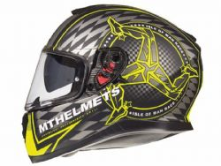 Casco MT Thunder 3 SV Isle of  Man A3 Negro / Amarillo