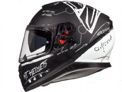 Casco Mt Thunder 3 Sv Board Negro Matte Blanco