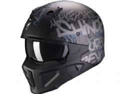 Casco Scorpion Covert-X Wall Negro Mate / Plata