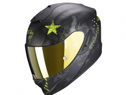 Casco Scorpion Exo-1400 Air Asio Negro Mate / Amarillo Neon
