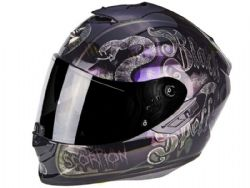 Casco Scorpion Exo-1400 Air Blackspell Negro Camaleon