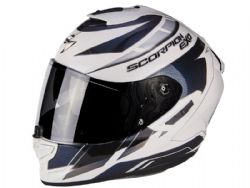 Casco Scorpion Exo-1400 Air Cup Blanco / Camaleon Azul