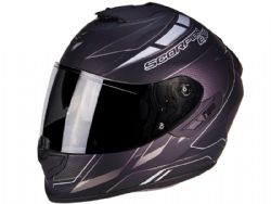 Casco Scorpion Exo-1400 Air Cup Negro Mate / Camaleon Plata