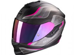 Casco Scorpion Exo-1400 Air Attune Negro Mate / Rosa