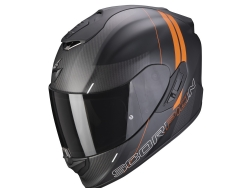 Casco Scorpion Exo-1400 Carbon Air Drik Negro Mate / Naranja