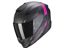 Casco Scorpion Exo-1400 Carbon Air Drik Negro Mate / Rosa