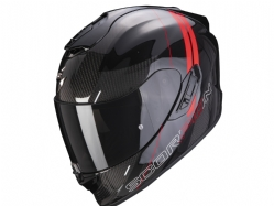 Casco Scorpion Exo-1400 Carbon Air Drik Negro / Rojo