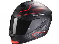 Casco Scorpion Exo-1400 Air Galaxy Negro Mate / Rojo Neon