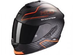 Casco Scorpion Exo-1400 Air Galaxy Negro Mate / Naranja