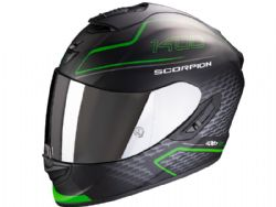 Casco Scorpion Exo-1400 Air Galaxy Negro Mate / Verde