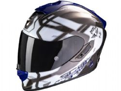 Casco Scorpion Exo-1400 Air Spatium Blanco / Azul