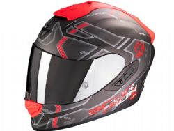 Casco Scorpion Exo-1400 Air Spatium Plata Mate / Rojo