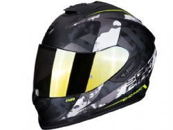 Casco Scorpion Exo-1400 Air Sylex Negro Mate / Plata