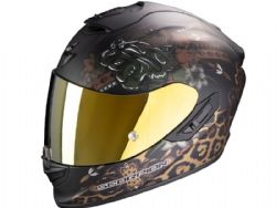 Casco Scorpion Exo-1400 Air Toa Negro Mate / Oro