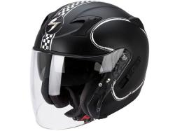 Casco Scorpion Exo-220 Bixby Negro-Blanco Mate