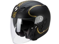 Casco Scorpion Exo-220 Bixby Negro-Oro Mate
