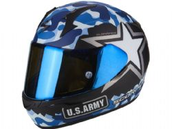 Casco Scorpion Exo-390 Army Negro Mate / Azul