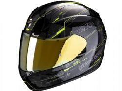 Casco Scorpion Exo-390 Beat Negro / Amarillo