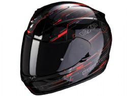 Casco Scorpion Exo-390 Beat Negro / Rojo