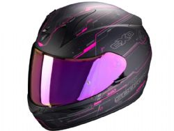 Casco Scorpion Exo-390 Beat Negro Mate / Rosa