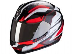 Casco Scorpion Exo-390 Boost Negro / Blanco / Rojo