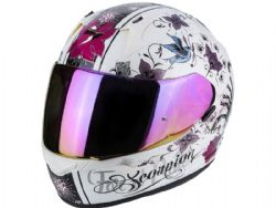 Casco Scorpion Exo-390 Army Chica Blanco / Negro