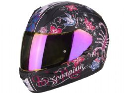 Casco Scorpion Exo-390 Army Chica Negro Mate / Rosa