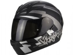 Casco Scorpion Exo-390 Patriot Negro Mate / Plata