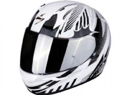 Casco Scorpion Exo-390 Pop Blanco / Negro