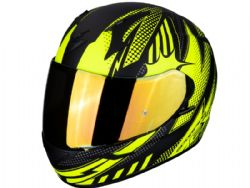 Casco Scorpion Exo-390 Pop Negro Mate / Amarillo