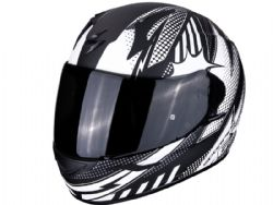 Casco Scorpion Exo-390 Pop Negro Mate / Blanco