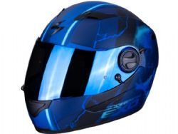 Casco Scorpion Exo-490 Dar Azul Mate