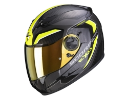 Casco Scorpion Exo-490 Supernova Negro / Amarillo Neon