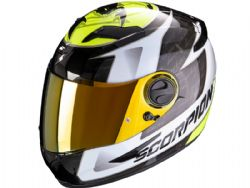 Casco Scorpion Exo-490 Tour Blanco / Amarillo Neon