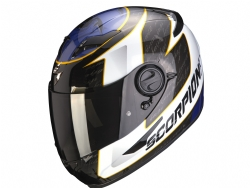 Casco Scorpion Exo-490 Tour Blanco / Azul