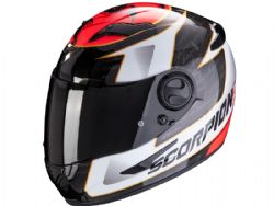 Casco Scorpion Exo-490 Tour Blanco / Rojo