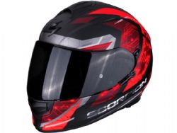 Casco Scorpion Exo-510 Air Clarus Negro Mate / Rojo