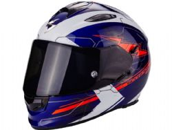 Casco Scorpion Exo-510 Air Cross Azul Blanco