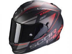 Casco Scorpion Exo-510 Air Ferrum Negro Mate / Plata / Rojo