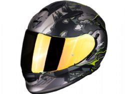 Casco Scorpion Exo-510 Air Likid Titanio / Amarillo