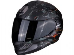 Casco Scorpion Exo-510 Air Likid Negro Mate / Naranja
