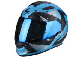 Casco Scorpion Exo-510 Air Marcus Azul Mate / Negro