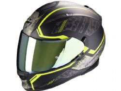 Casco Scorpion Exo-510 Air Occulta Negro Mate / Amarillo Neon