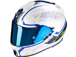 Casco Scorpion Exo-510 Air Occulta Blanco Perla / Azul