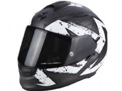 Casco Scorpion Exo-510 Air Marcus Plata Mate / Blanco